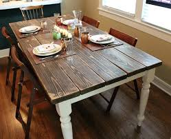 diy farmhouse table top rustic dining table ideas magnificent white and wood chairs artistic unique on