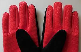 Nike Mens Fleece Grip Training Gloves Black University Red