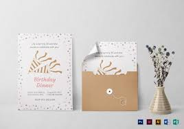 dinner template birthday dinner invitation template