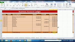 How To Create A Business Accounts Ledger In Microsoft Excel Debit Credit Balance