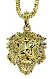 winter fashion week lion head 14k gold plated iced out cz 24 franco necklace mens womens hip hop 89433