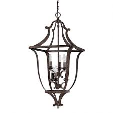 6 light foyer fixture