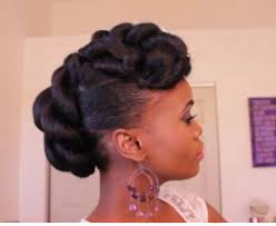 Natural Formal Hairstyles Bridal Faux Updo With Braidng Hair On Ethnic Hair Youtube