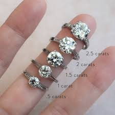 1 carat diamond size how different diamond sizes actually look on a hand whowhatwear au