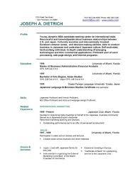 Resume Templates Free Download Sample Basic Resume Outline