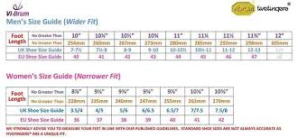 Vibram Size Chart Female Vibram Fivefingers Kso Evo Black
