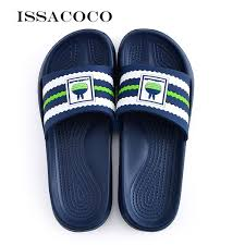2019 <b>ISSACOCO</b> Home <b>Slippers</b> Shoes <b>Men Sandals Men Summer</b> ...
