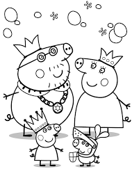 Peppa Pig 3 Marker Challenge Coloring Pages Print Coloring