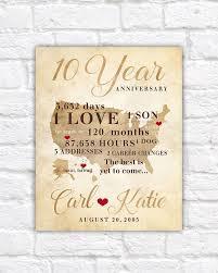 anniversary ten year gift 10th wedding fresh ideas couples pillow