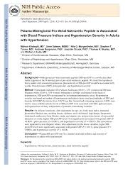 Mayo Clinic Blood Pressure Chart By Age Pdf Plasma Midregional Pro Atrial Natriuretic Peptide Is