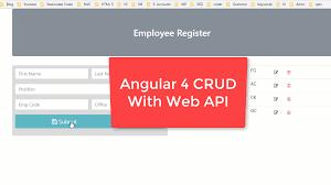 Operations Employee Angular 5 With Web Api Crud Operations