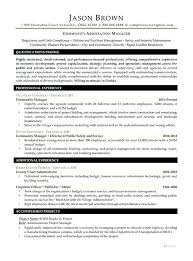 Managing Director Resume Sample Community Association Manager ...