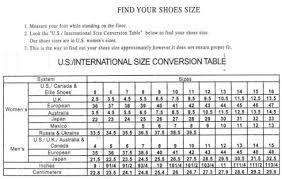 Ellie Shoes Size Chart Sizing Lingeriediva