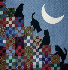 Quilt Inspiration: The Best of Cat Quilts! Part Three & Marty Mason is a fiber artist who creates original art quilts and thread  paintings, along with a selection of classic quilts. Her striking