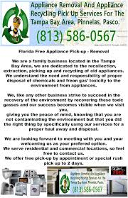Appliances Tampa Free Appliance Removal Pickup Disposal Recycle Florida Tampa