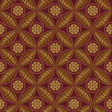 Cool carpets with traditional natural pattern in red and gold colors