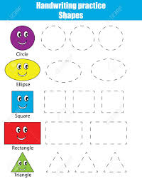 Handwritting Practice Handwriting Practice Sheet Educational Children Game Writing