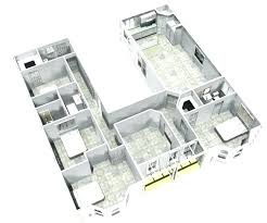 attractive u shaped floor plans with pool house central courtyard change left wing to 2