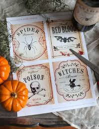 Free Printable Wine Labels Printable Halloween Wine Bottle Labels The Elli Blog