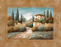 tuscan blue ii painting vivian flasch tuscan blue ii art painting