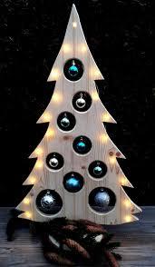 Weihnachtsbaum Holzdeko Led Kugeln Holzbaum Weihnachtsdeko