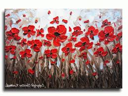 well known red poppy canvas wall art with abstract red poppy painting modern art home decor