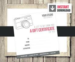 free photo session gift certificate template photography digital for ideas di