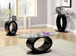 Newark Glass White Black Gloss Coffee Table