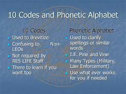 Aviation uses the phonetic alphabet for taxiway names. Police Radio Training For Residential Life Staff Ppt Download