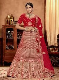 Bridal Lehenga Choli Designs With Price Red Velvet Bridal Lehenga Choli 149342 Indian Bridal