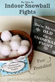 indoor snowball fight ideas