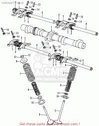 Honda cb350f four 1972 usa camshaft valve schematic partsfiche