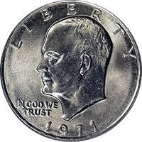 1972 Eisenhower Silver Dollar Value Chart 1971 Eisenhower Dollar Value Cointrackers
