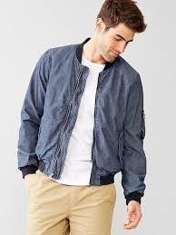men s fashion jackets er jackets navy er jackets gap chambray er