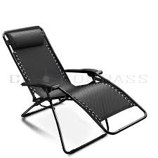 lounge patio chairs folding download: lounge chair zero gravity folding recliner patio pool lounger black