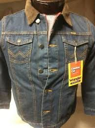 Wrangler Jacket Size Chart Details About New Boys Kids Wrangler Blanket Lined Blue Denim Western Cowboy Trucker Jacket