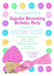 Cupcake Decorating Invitations Cupcake Party Baking Etsy