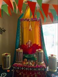 ganpati decoration pooja room pinterest decoration diwali