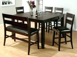 high top table with bench high top kitchen table and chairs for dining 8 set within plans high kitchen table bench high top table bench