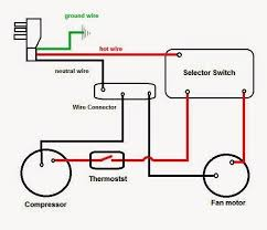 wiring diagram compressor electrical wiring diagrams for air conditioning systems part two fig 4 window air conditioning unit internal