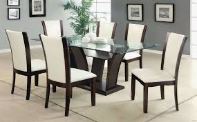 Round Glass Kitchen Table Sets Beautiful Dining Table Sets 7 Piece