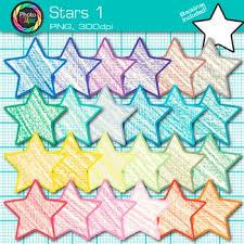 Star Clip Art Behavior Chart Reward Coupon Classroom Management Use 1