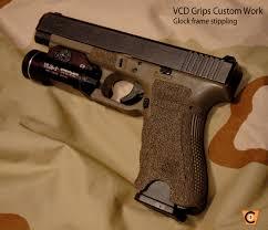 plastic framed pistols glock frame stippling