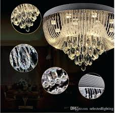 flush crystal chandelier modern crystal chandelier flush mount ceiling light rain drop crystal chandeliers lighting round