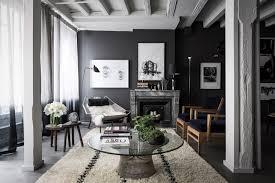 dark gray living room white ceiling