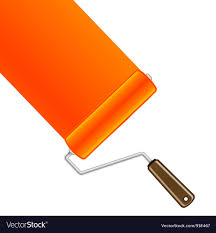 paint roller background.  Paint Orange Paint Roller Background Vector Image For Paint Roller Background R