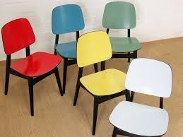 orig LüBKE Stuhl BLAU chair chaise 1 4 stühle dining chair 50er
