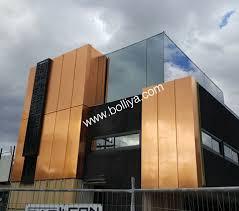 interior copper exterior wall panels
