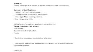 Resume Format For Teachers In India Job Resume Sample On Resume For