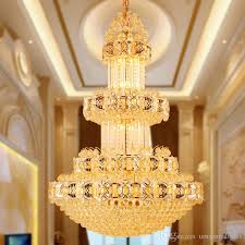 golden crystal chandelier american modern chandeliers lights fixture villa home indoor lighting hotel hall lobby parlor long led hang lamps sphere